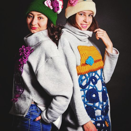 Crochet Crocheting Crochetlove Two People Child Togetherness Children Only Friendship Knit Hat People Wool Crochet Hook And Yarn First Eyeem Photo Crochet Lace Crochet Projects Crocheted Crochet Addict Warm Clothing Deadcat Deadcatknit Girls HOODIES Hoodie Hoodie Weather ❤ Hoodie Time Hoodieseason