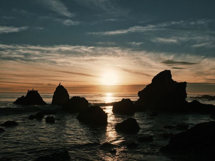 Sunset Sea Sky Scenics Nature Beauty In Nature Water Tranquility No People Horizon Over Water Outdoors California Dreamin