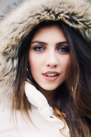 Beautiful Woman Looking At Camera Portrait Long Hair Young Adult One Person Real People Lifestyles Young Women Cold Temperature Front View Close-up Fashion Headshot Warm Clothing Beauty Studio Shot Winter