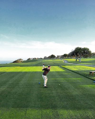 So clean. Golf Course California La Jolla Golf Sky Real People Plant Green Color Field Grass Land Nature Sport One Person Men Outdoors Landscape