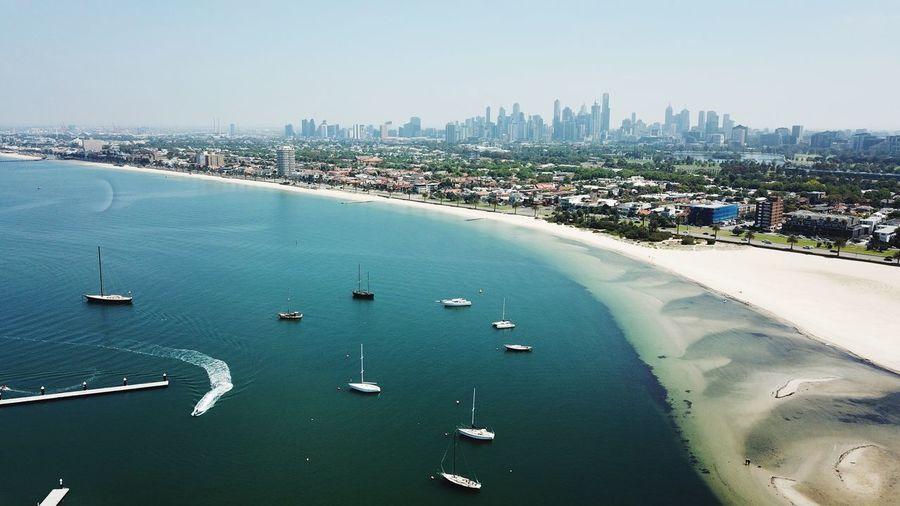 Movement Seascape Aerial Aerial View DJI Mavic Pro Dronephotography Drone  Australian Landscape Australia Victoria Melbourne Built Structure Building Exterior City Architecture Water Sky Sea Transportation Cityscape Skyscraper Office Building Exterior Travel Destinations Waterfront Building Nautical Vessel Travel Day Nature Outdoors