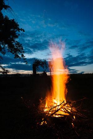 Cloud Cloud - Sky Fire Long Exposure Night Sky Sunset