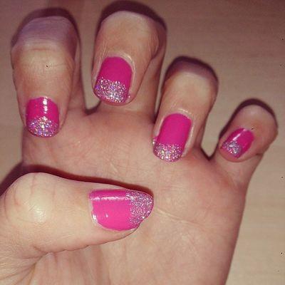Nailfix :) Naglar Nagellack  Nailart  Glitter Pink