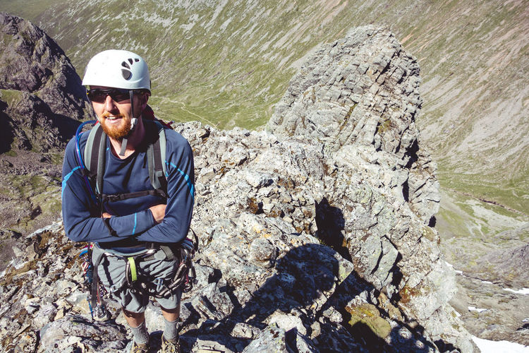 Ben Nevis Climber Exercise Exploring Happy Hot Scotland Scrambling Tower Ridge Adventure Beauty In Nature Climbing Extreme Sports Healthy Lifestyle Helmet Leisure Activity Lifestyles Mountain Mountain Climbing One Man Only Outdoors Portrait Real People Rock Climbing Summer