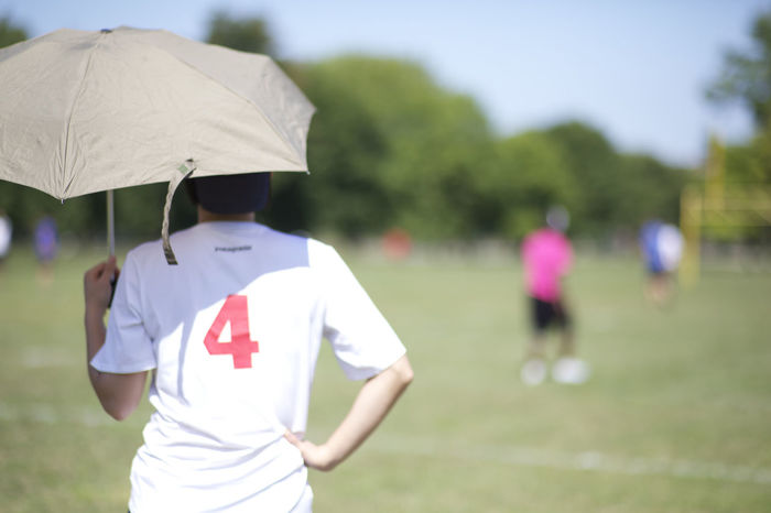 Day Focus On Foreground One Person Outdoors Sport Standing Ultimate Frisbee Umbrella