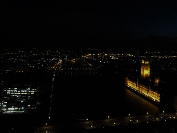 Lights dissappearing into the distance Architecture Building Exterior Built Structure Capital Cities  City Life Cityscapes High Angle View Houses Of Parliament Illuminated London Lifestyle Night Night Lights Nightphotography No People Outdoors River River Thames Travel Destinations Uraban Urban Exploration Urban Geometry Urban Landscape Flying High