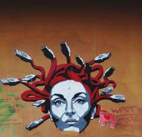 Streetphotography Outdoors Street Art Medusa Head