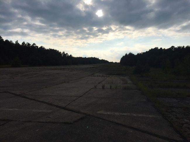 Old Airport Runway No People Russian Udssr