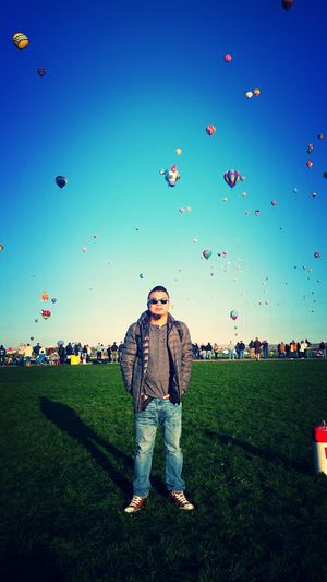Me Albuquerque International Balloon Fiesta Beautiful Day Hot Air Balloons Balloon Fiesta 2015 Blue Sky Enjoying Life The Places I've Been Today My Best Photo 2015 Belongs To Me