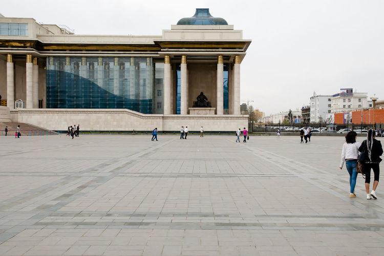 Chinggis Square Chinggis Square City Mongolia Ulaanbaatar Main Square