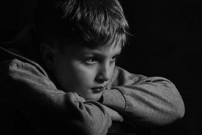 Portrait Russia Childhood One Person Boys Child Elementary Age Indoors  Close-up One Boy Only Human Hand Blackandwhite Black And White Black & White Blackandwhite Photography