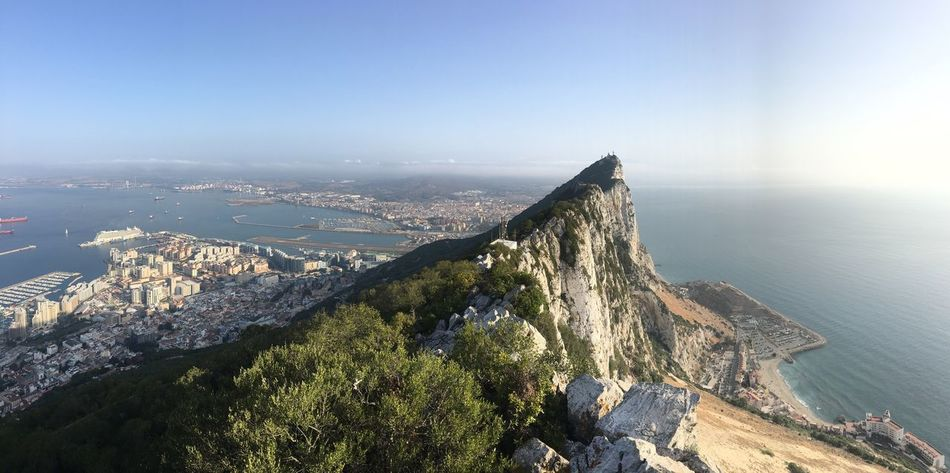 Upper rock views No Filter, No Edit, Just Photography No Filters Or Effects Sunrise Top Of The Rock Gibraltar Upper Rock Views Of Spain 180 Degrees EyeEm Selects Water Sea Architecture Built Structure Building Exterior Sky Scenics - Nature Beauty In Nature High Angle View Cityscape