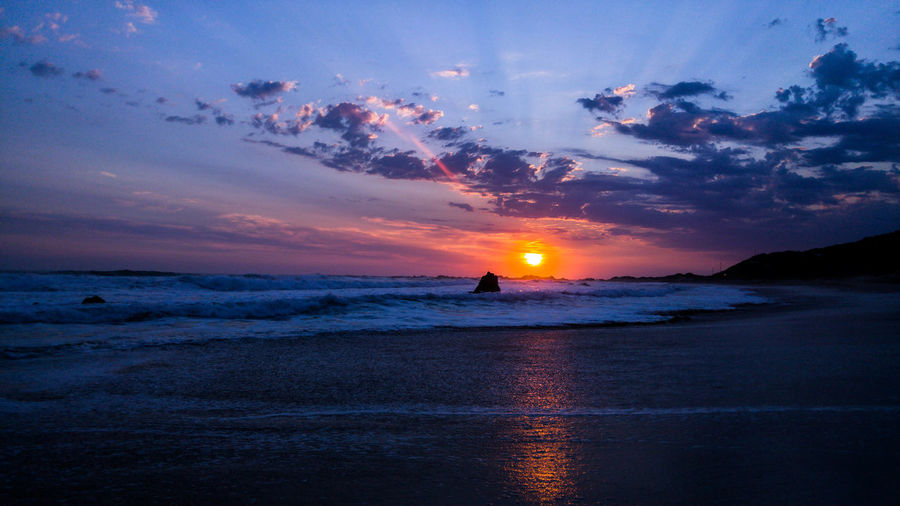 Sunset Sea Beach Water Sky Silhouette Night Cloud - Sky Landscape Nature Reflection Horizon Over Water Scenics Summer Awe Outdoors Beauty In Nature Tranquility One Person Beauty Eyemphotography South African Sunsets Eyeemsouthafrica EyeEmNewHere EyeEm Best Shots