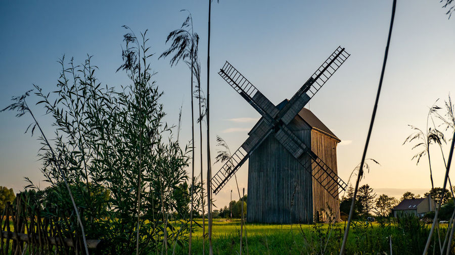 Old windmill on