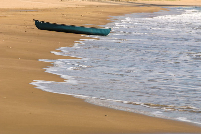 Beach Boat Day France Jard Nature Nautical Vessel No People Outdoors Rowing Boat Sand Scenics Sea Shapes , Lines , Forms & Composition Shore Sky Water Wave