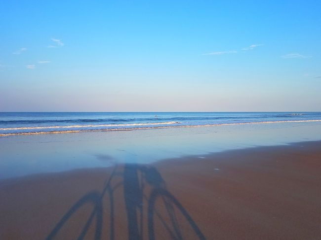 Beach Sea Sky Blue Scenics Beauty In Nature Landscape Horizon Over Water Sand Hanging Out St Augustine, FL Seashore Photography Pastel Colored Vacations Low Tide Beach Life Beach Biking ThatsMe