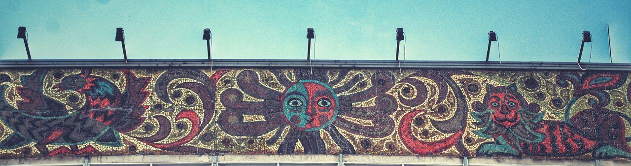 Graffiti Art And Craft Street Art Multi Colored Day Outdoors No People Hanging Sky НижнийНовгород арт  Россия архитектура EyeEmNewHere