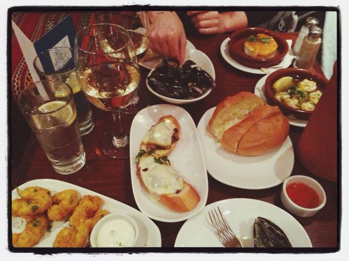 Tapas with the girl, Romance in the air and great delicious food@ Cafe Andaluz