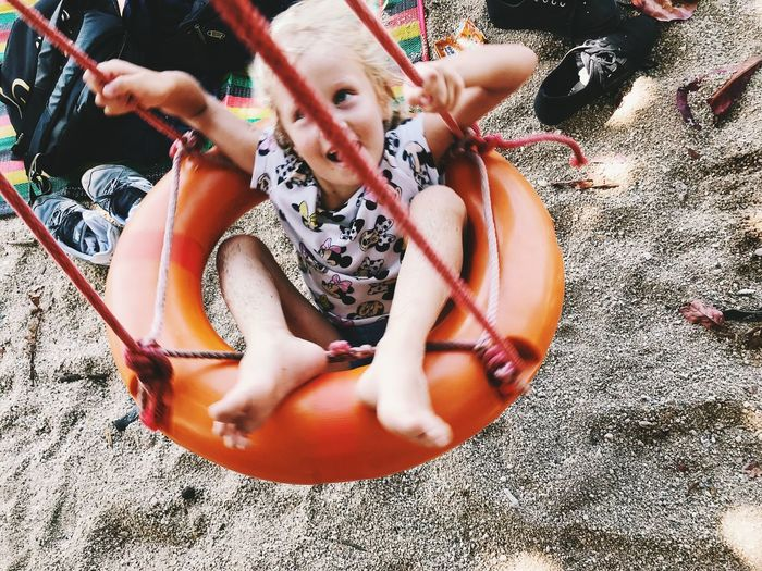 Real People Childhood Land One Person Leisure Activity Day Child High Angle View Sand Lifestyles Beach Nature Full Length Playing Outdoors Incidental People Toy Sunlight Innocence