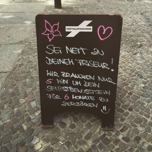 Notaufnahme - mein Friseur in Berlin Berlin Kastanienallee  Notaufnahme Wahre Worte