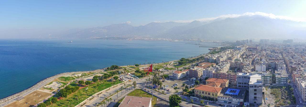 liman, piers, dock, iskenderun, hatay Sea Architecture Cityscape Business Finance And Industry Water Skyscraper City Sky High Angle View Travel Destinations Day