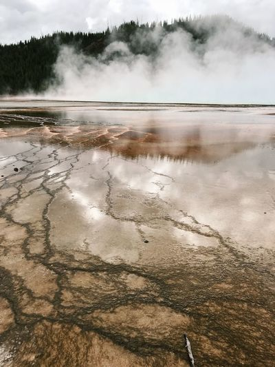 Yellowstone Geothermal Activity Yellowstone National Park Yellowstone Water Beauty In Nature Scenics - Nature Sky Nature Land Day