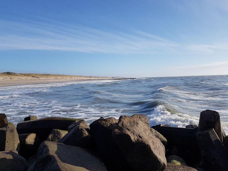 First Eyeem Photo White Water White Waves Stones Beach Waves, Ocean, Nature Waves Crashing Blue Sky Coastline Coast Coastline Landscape