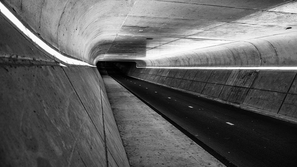 - Tunnelvision - View Vision Tunnel Light Lights Night Nightphotography Nightlights Tunnelvision Nikon Nikonphotography Urban Urban Landscape City Concrete Bycicle Underground Monochrome Blackandwhite Blackandwhite Photography