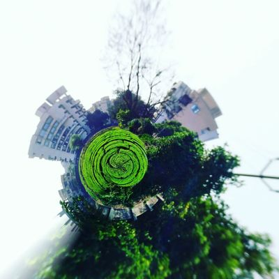 Built Structure Green Color Social Issues Fish-eye Lens Urban Skyline Agriculture Nature Photography Nature_collection Day No People Tinyplanetfx Mobile Photography Mobile_photographer Mobile Editing Nature At Home Nature On Your Doorstep Mi4iphotography Mi4iclicks Mi4icamera Mi4i16gb Distorted Image