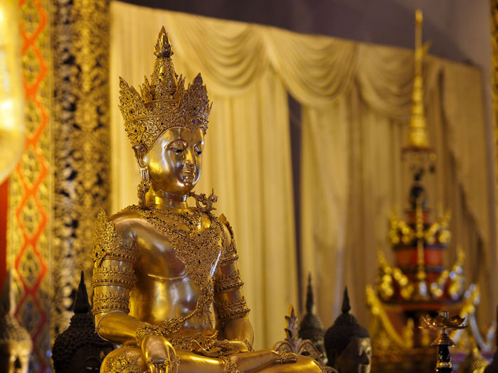 Golden Statue Of Buddha In Temple