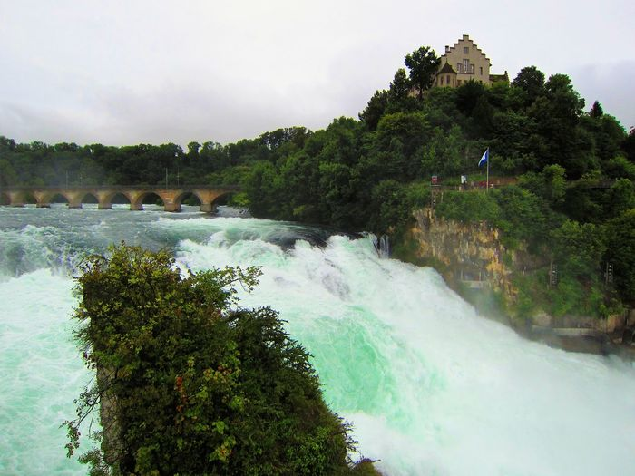 Rheinfall with Laufen Castle Arched Bridge Arches Beauty In Nature Laufen Castle Nature Power In Nature Rhein Falls Rheinfall River Scenics Switzerland Travel Destinations Water Waterfall Neighborhood Map Been There.