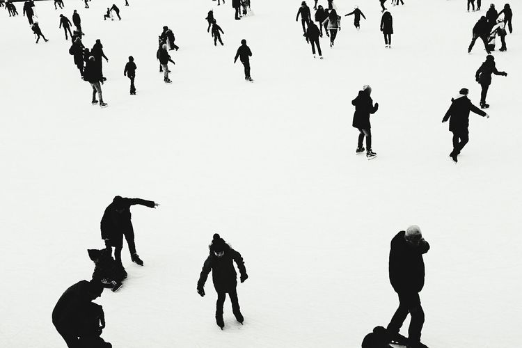 Ice Skating Fujifilm_xseries Germany X100f Fujifilm Iceskating Ice Skating Skating Ice Rink Blackandwhite Bnw Black And White People Watching People Adult Men Day
