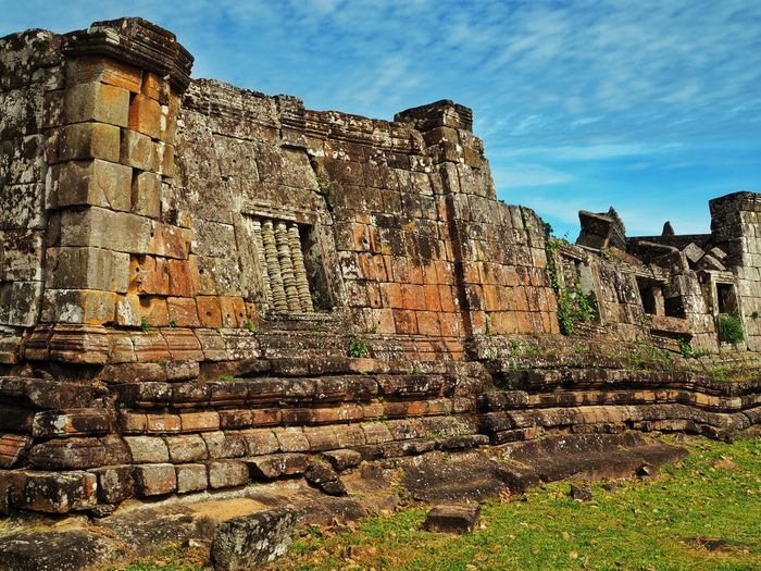 Low angle view of old ruins