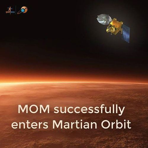 Jai Hind! @isro (Isro ) was successful established in MarsMission & historical day for India . We are at Red planet.