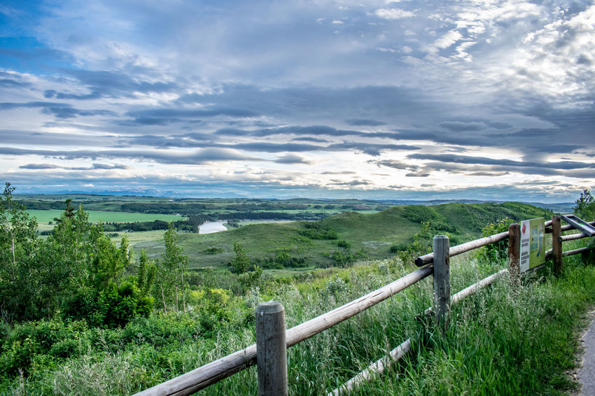 Alberta Canada Clouds Cochrane, Alberta Fence Glenbow Ranch Provincial Park Green Landscape Nature Outdoor Photography Outdoors Sky Wide Angle