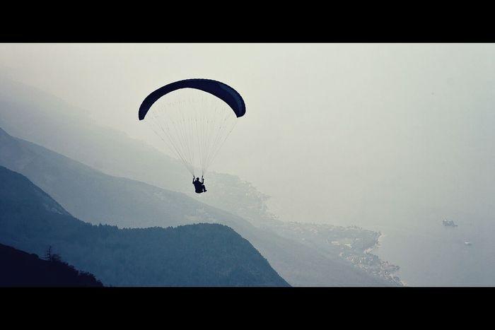 Paragliding Swiss Blackandwhite