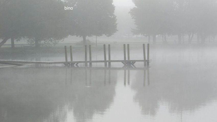 Out Shooting Foggy Morning Along The Lake Spooky And Cool!! From The Pier Cool_capture_ Black And White Photography Lake Cadillac Pure Michigan