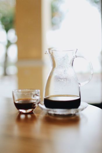 Coffee In Cup And Jar On Table