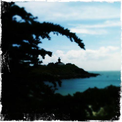 Gruselig Chaussey Iles  Outdoors Water Tranquility Tranquil Scene Spirituality Mystery Wächter Bucht Blau Adventure Leuchtturm