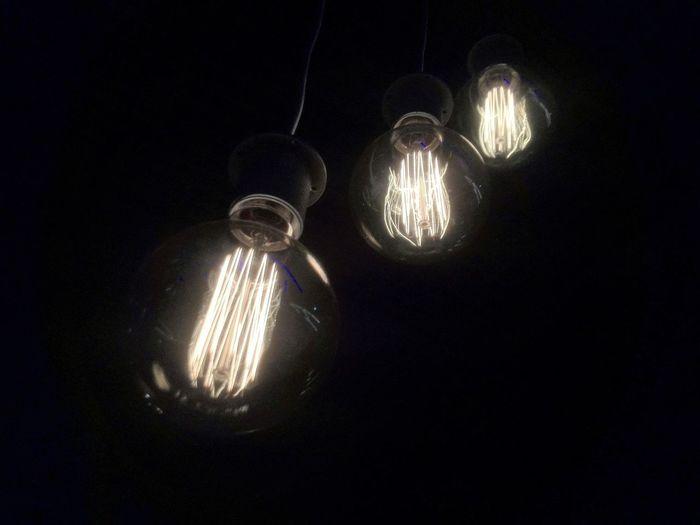 EyeEmNewHere Light Bulb Black Background Lighting Equipment Light