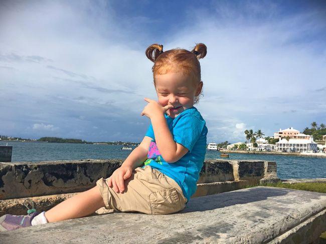 Cheeky Monkey Bermuda Islandlife Daughter Redhead Daddydaughtertime Childhood Enjoying Life Daddy's Girl