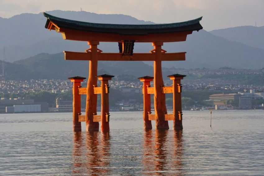 Buddhism Culture Buddhism Tori TORII Torii Gate Religion Spirituality Architecture Built Structure Place Of Worship Water Mountain Nature Scenics Sea Travel Destinations Shrine Beauty In Nature Reflection Waterfront