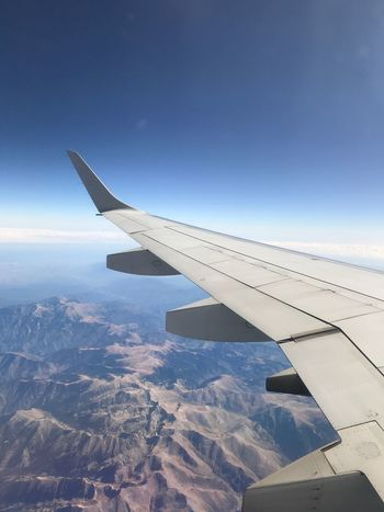 Aerial View Airplane Transportation Journey Airplane Wing Nature Air Vehicle Aircraft Wing Beauty In Nature Mode Of Transport No People Sky Travel Scenics Day Tranquil Scene Outdoors Cloud - Sky Landscape Blue From A Plane Window SPAIN