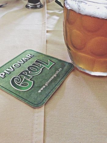 Groll Drinking Beer Enjoying Life