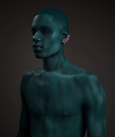 Pivotal Ideas Statue Body Painting Jewelry Androgyny Model Conceptual Portrait In Studio Beauty Makeup Mua Newtalent Eyeemphoto