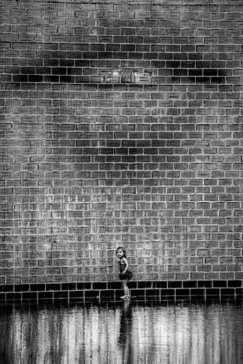 """""""Your Lips"""" Black & White Black And White Blackandwhite Crown Fountain Day Feel The Journey Full Frame Girl Hobbies Millenium Park Outdoors Streetphotography Water Waterfront"""