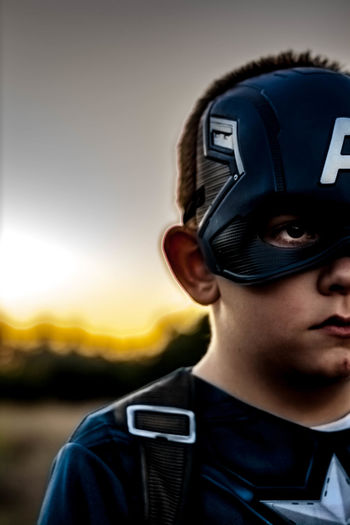 Headshot One Person Portrait Front View Close-up Childhood Child Human Face Son Outdoors Dramatic Sky Captainamericacivilwar Captainmerica Comic Heroes Comic Art