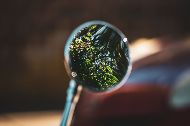 Reflection in wing mirror