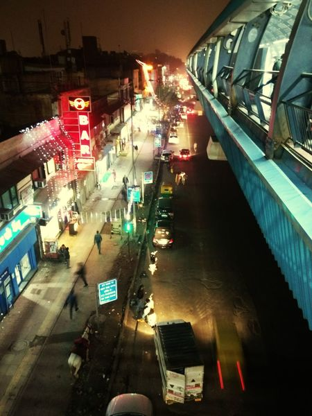 Darkness And Light Night Illuminated High Angle View Travel Destinations City Outdoors Bridge - Man Made Structure Traveling Travel Photography Delhi No People Drone
