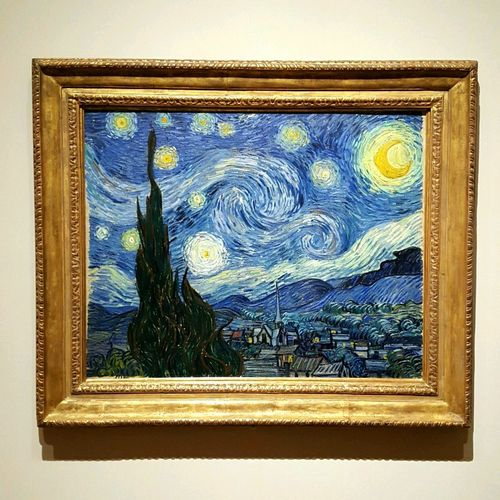 Starry night Gold Picture Frame Old-fashioned Monet Starry Night by Monet in the Museum of Modern Art